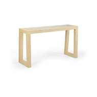 Wildwood Home Gaston Console - Natural 490317 Acacia/Glass