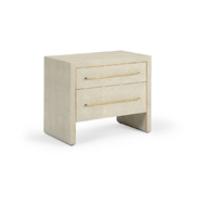 Wildwood Home Hudson Chest - Gray 490289 Leather/Brass