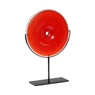 Wildwood Home Lunar Disc - Red 301606 Glass