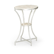 Wildwood Home Myrtle Accent Table 490346 Shell/Iron