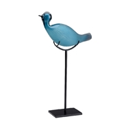 Wildwood Home Ozzie Bird Sculpture 301584 Glass/Iron