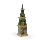 Wildwood Home Pagoda Obelisk - Malachite 301556 Wood