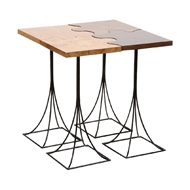 Wildwood Home Puzzle Table - Set of 4 490179 Wood/Veneer