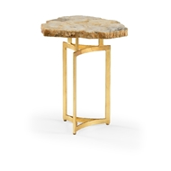 Wildwood Home Quartz Drinks Table 490329 Quartz/Iron