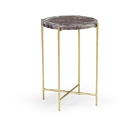 Wildwood Home Salina Accent Table 490426 Stone