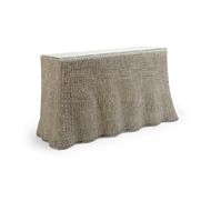 Wildwood Home Savannah Console - Gray Wash 490368 Wicker/Rattan/Glass