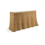 Wildwood Home Savannah Console - Natural 490367 Wicker/Rattan/Glass