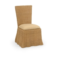 Wildwood Home Savannah Dining Chair - Natural 490370 Wicker/Rattan/Fabric