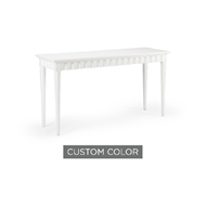 Wildwood Home Scallop Console 400017-CUSTOM Acacia Wood