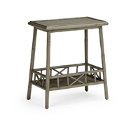 Wildwood Home Tahiti Table - Gray 490286 Rattan