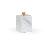 Wildwood Home Tall Merle Square Box 301786 Marble/Metal