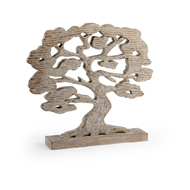 Wildwood Home Tree Silhouette 301598 Mango Wood