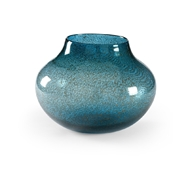 Wildwood Home Turquoise Bubble Vase - Small 301546 Glass