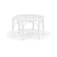 Wildwood Home Wild Palm Cocktail Table 490469 Rattan/Glass