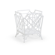 Wildwood Home Wild Palm Planter - White 490453 Rattan