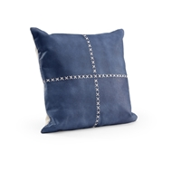 Wildwood Laredo Pillow - Blue 301531 Suede/Leather