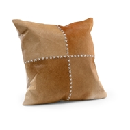 Wildwood Laredo Pillow - Tan 301540 Hair On Hide/Leather