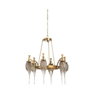 Wildwood Lighting Aiden Chandelier - Brass 67292 Iron/Art Glass