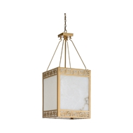 Wildwood Lighting Athens Chandelier 67243 Iron/Alabaster