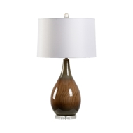 Wildwood Lighting Brown Faux Bois Lamp 60909 Ceramic