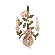 Wildwood Lighting Hydrangea Sconce 2842 Hand Painted Florentine Iron