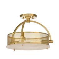 Wildwood Lighting Moon Ceiling Light - Brass 67232 Alabaster/Iron