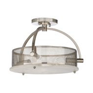 Wildwood Lighting Moon Ceiling Light - Nickel 67233 Alabaster