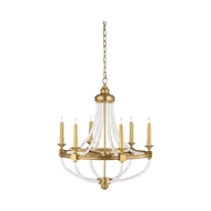Wildwood Lighting Prospect Chandelier 67343 Brass/Acrylic