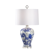 Wildwood Lighting Prosperity Lamp - Blue 60921 Porcelain