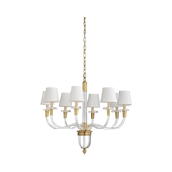 Wildwood Lighting Salon Chandelier - Large 67270 Crystal/Brass