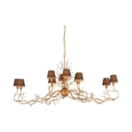 Wildwood Lighting Tendril Chandelier 67317 Metal/Fabric