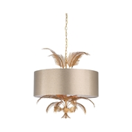 Wildwood Lighting Wild Palm Chandelier - Large 67319 Metal/Faux Leather