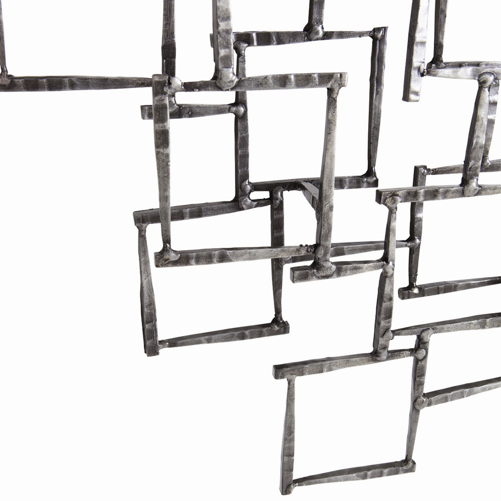 ... Arteriors Ecko Wall Sculpture 6799 In Gray   Iron ...