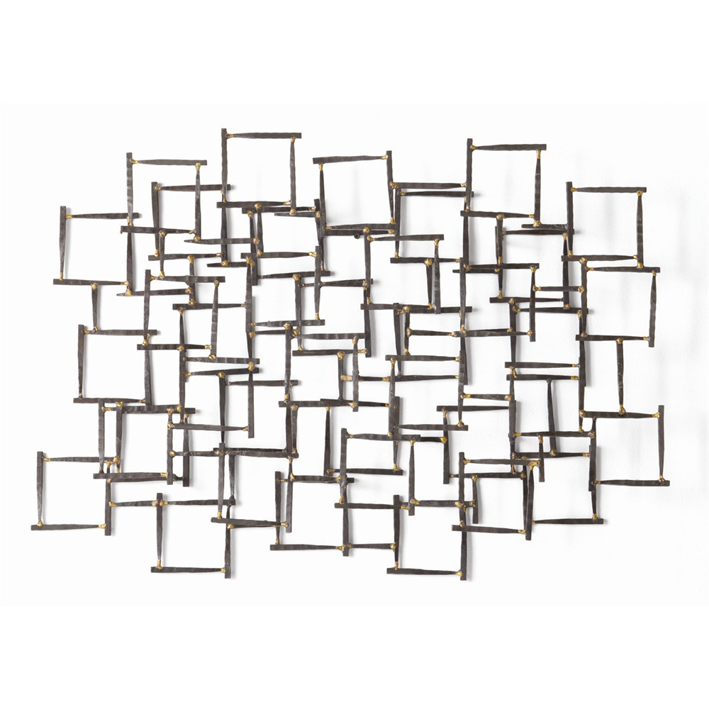 Arteriors Ecko Wall Sculpture 6347 in Gray - Iron