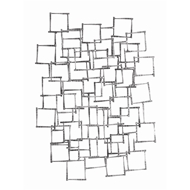 Arteriors Ecko Wall Sculpture 6799 in Gray - Iron