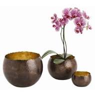 Arteriors Home Alessandria Containers Set of 3 2476 Brown - Brass