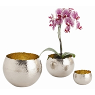 Arteriors Home Alessandria Containers Set of 3 2477 Gray - Brass