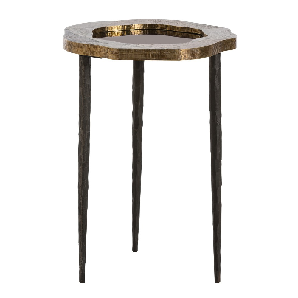 Arteriors Home Brutalist Accent Table DD2068 In Yellow Brass Sheet ...