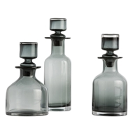 Arteriors Home OConnor Decanters Set of 3 7509 Gray - Glass
