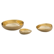 Arteriors Home Rashida Containers Set of 3 2085 Yellow - Brass