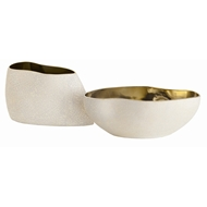 Arteriors Home Vanessa Centerpieces Set of 2 7676 Yellow - Porcelain