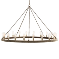Arteriors Lighting Geoffrey Large Chandelier 84175 - Wood