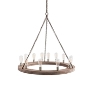 Arteriors Lighting Geoffrey Small Chandelier 84171 - Wood
