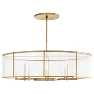 Arteriors Lighting Hera Oval Chandelier DS89000 - Steel
