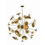 Arteriors Lighting Keegan Large Chandelier 89018 - Steel
