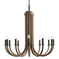 Arteriors Lighting Palermo Chandelier 45106 - Wood