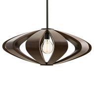 Arteriors Lighting Remus Small Pendant 45102 - Wood