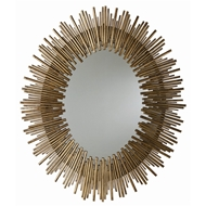 Arteriors Prescott Large Oval Mirror 6561 in Yellow - Iron