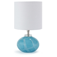 Regina Andrew Lighting Art Glass Mini Orb Lamp - Sky Blue Swirl