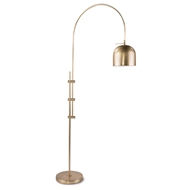 Regina Andrew Design Lighting Arc Floor Lamp With Metal Shade - Natural Brass 14-1003NB